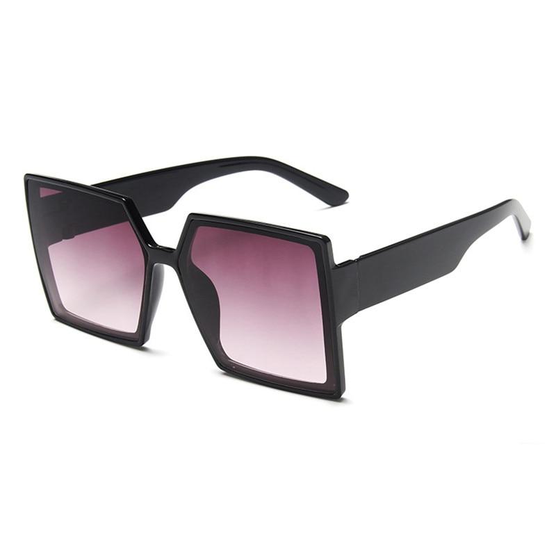 Vintgae 2021 Shades For Women Luxury Brand Square Sunglasses Woman Trendy Big Frame Fashion Sun Glas
