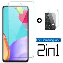 Vidrio de cámara de 1 a 2 para Samsung Galaxy A52 5G A51 A50 A42 5G, vidrio protector para Samsung a32 a72 a12 a22, película de pantalla de teléfono ligera
