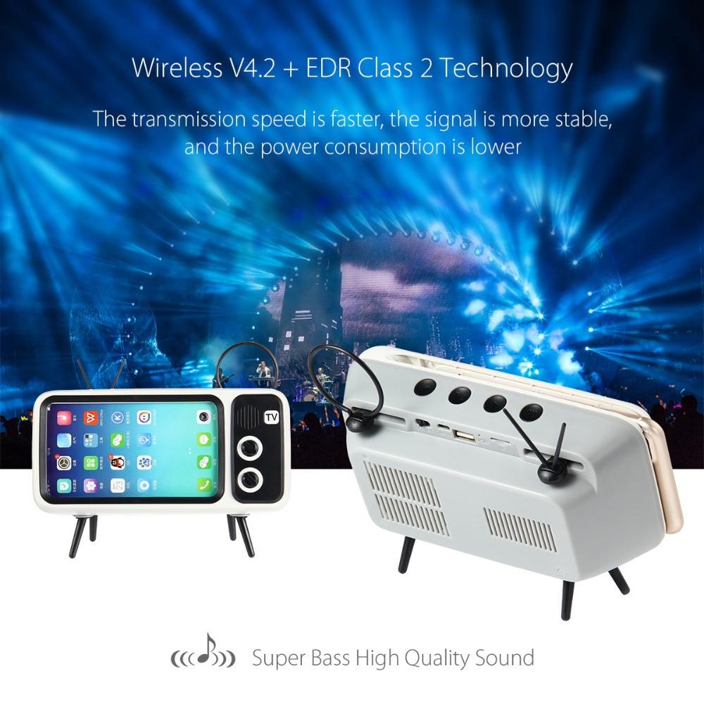 Altavoz Bluetooth clásico mini TV soporte de Audio TF tarjeta FM Radio Aux modelo de caja de sonido inalámbrico para iPhone Huawei Xiaomi