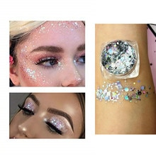 19 Colors Make Up Sequins Eyeshadow Lasting Nail Lip Body Mermaid Eye Shadow Glitter Cosmetics Festi