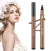 3D Eyebrow Pen Waterproof Fork Tip Eyebrow Tattoo Pencil Long Lasting Professional Fine Sketch Liqui