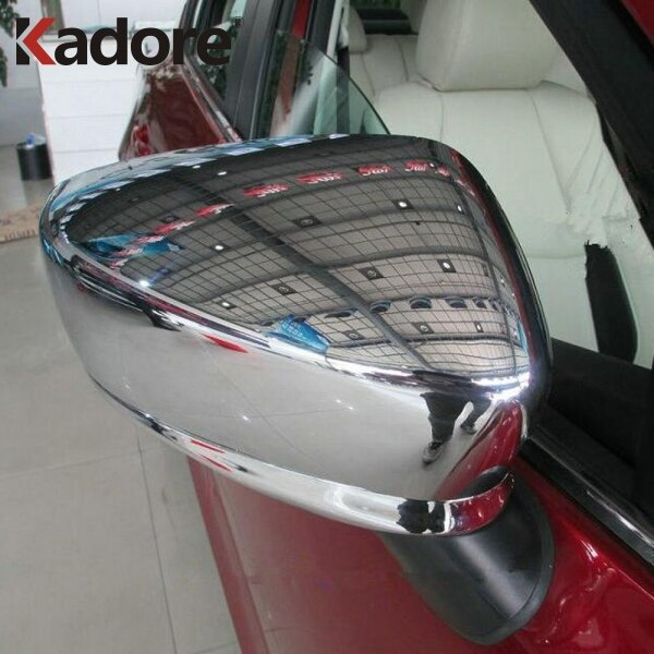 For Mazda 2 DEMIO DJ Hatchback 2014 2015 2016 2017 2018 ABS Chrome Side Door Mirror Caps Cover Trim Car Exterior Accessories
