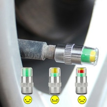Capuchon de tige de Valve de contrôle de pression   Pneus Auto 2.0Bar 30PSI de voiture, indicateur dalerte oculaire, Kit doutils de Diagnostic, HOT NEW 4 pièces