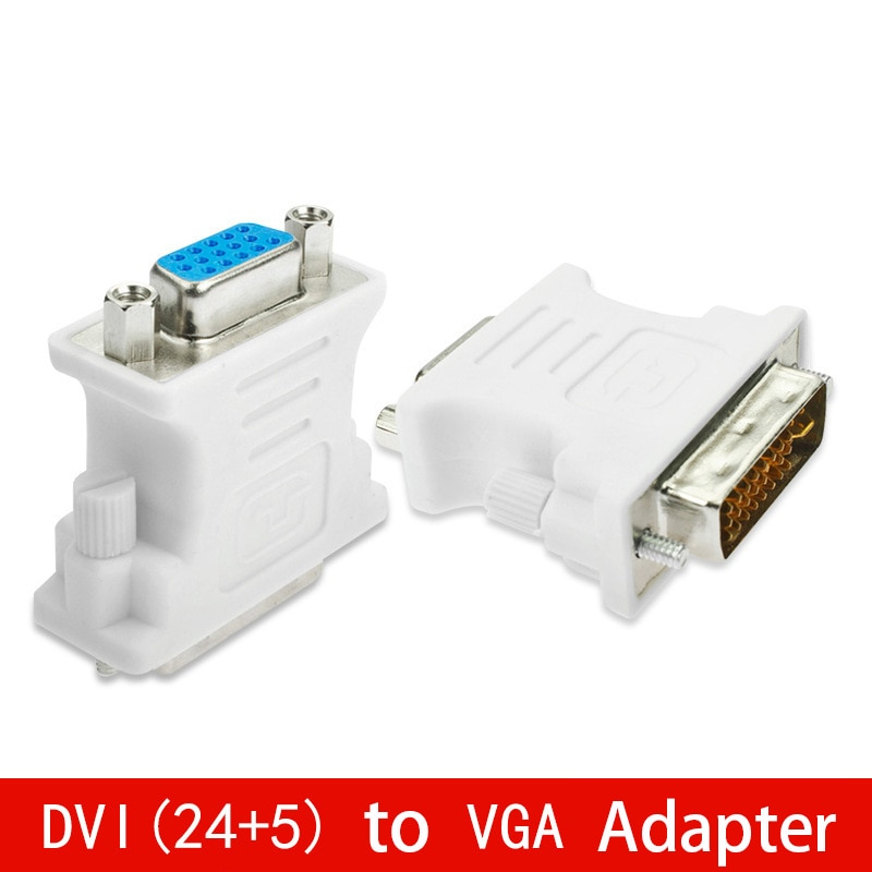 DVI (24+5) to VGA Adapter Converter DVI 24+5 Pin Male to VGA Female 1080P Converter Adapter for HDTV