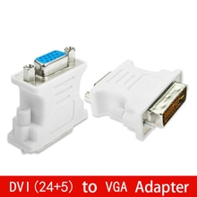 DVI (24+5) to VGA Adapter Converter DVI 24+5 Pin Male to VGA Female 1080P Converter Adapter for HDTV