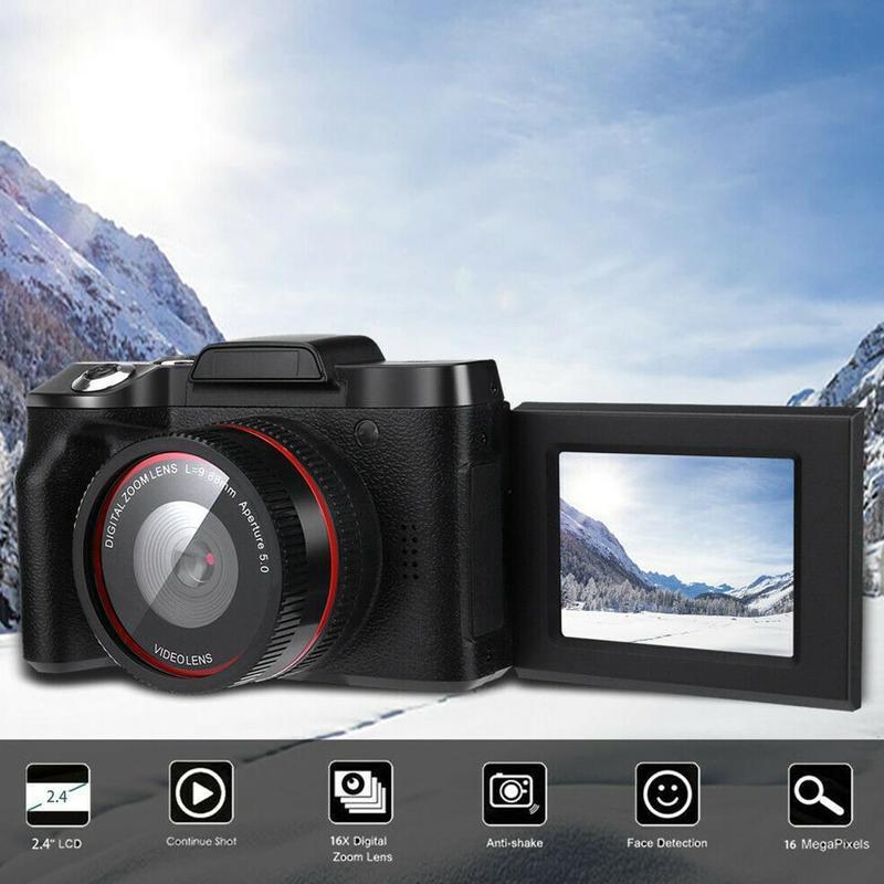 Kuulee Digital Full HD 1080P 16x Digital Camera Professional Video Camcorder Vlogging Camera