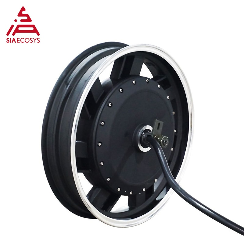 SiAECOSYS QSMOTOR 17X3.5inch 8000W 72V 120kph hub Motor with EM200SP controller power train kits for electric motorcycle enlarge