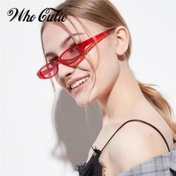 Quem cutie pequeno retangular óculos de sol feminino marca designer vintage moldura de cristal estreito pequeno retângulo óculos de sol tons om638
