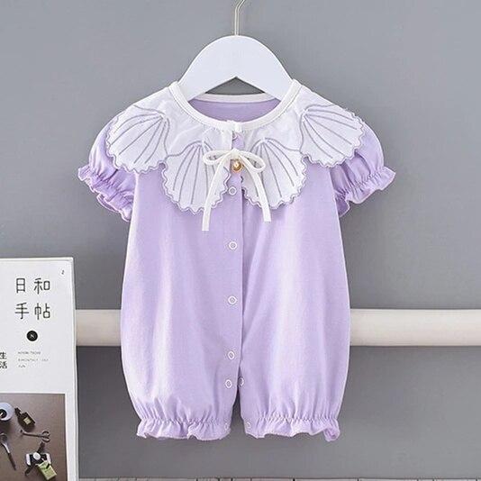 2021 летняя одежда для маленьких девочек, наряды, боди для новорожденных, комбинезоны, хлопковые комбинезоны с коротким рукавом, комбинезон д...