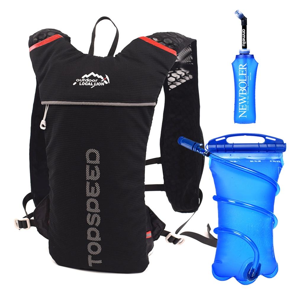 Trail Running Backpack 5L Ultra Running Hydration Vest Pack Marathon Running Bike Rucksack bag 500ml Soft Flask Bottle Water Bag
