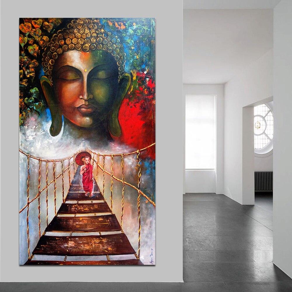 Lienzo Modular pintura decoración del hogar 1 piezas/piezas budista monje Cuadros impresos modernos póster para pasillo sin marco