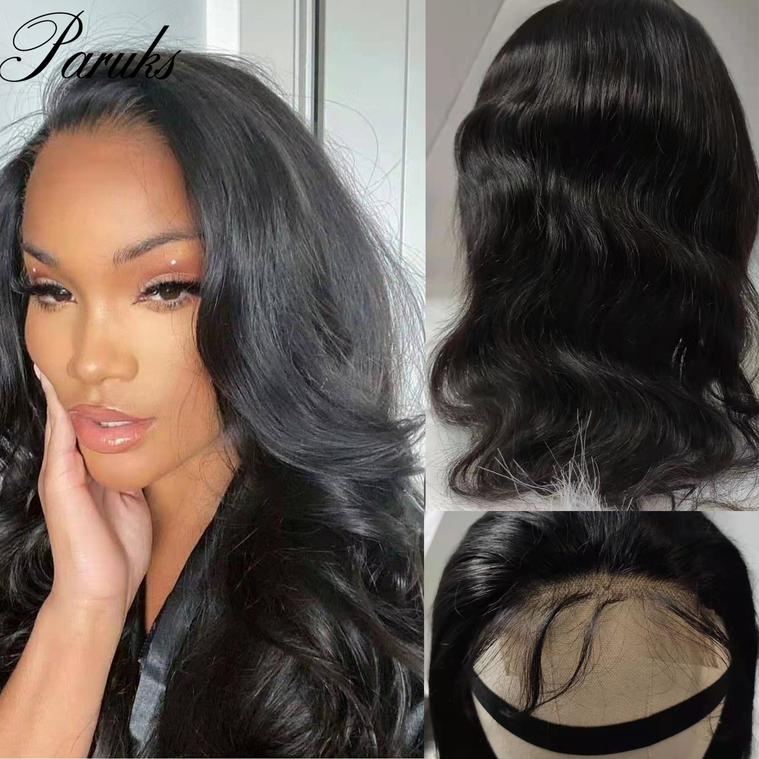 Paruks Peruvian Body Wave Lace Front Wigs Human Hair Wigs 4*4 Lace Front Hair Wigs 100% Human Remy Hair Wigs For Black Woman