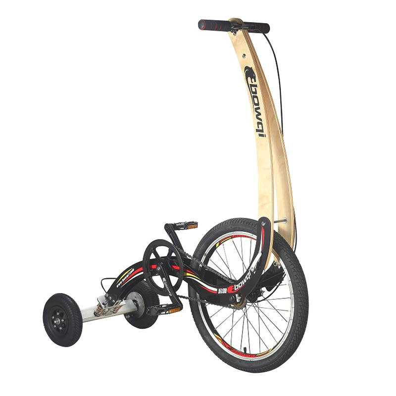 Multifunctional exercise bike Outdoor cycling exercise bike Three-wheeled seatless folding transport Stand-up bicycle with pedal