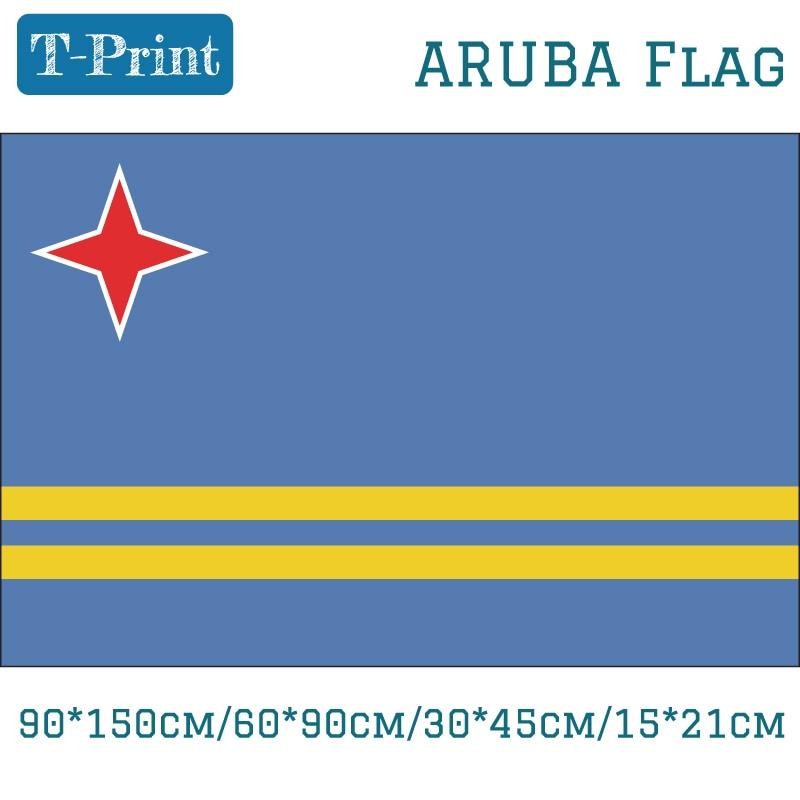 2pcs Flag Aruba Flag For National Day 90*150cm/60*90cm/15*21cm 40*60cm Car Flag 3x5 Feet