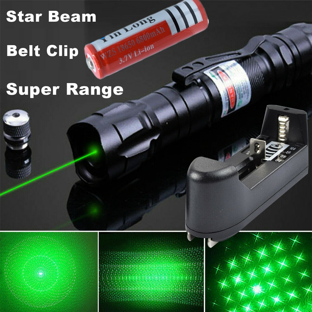 Высокомощная зеленая и красная лазерная указка 10000 м, 5 мВт, Фиолетовый Лазерный фонарь, фокус прицела, Регулируемый Лазерный фонарь, ручка