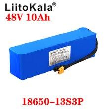 LiitoKala 48V 10ah 13s3p 높은 전원 18650 배터리 전기 자동차 전기 오토바이 DIY 배터리 BMS 보호 XT60 플러그