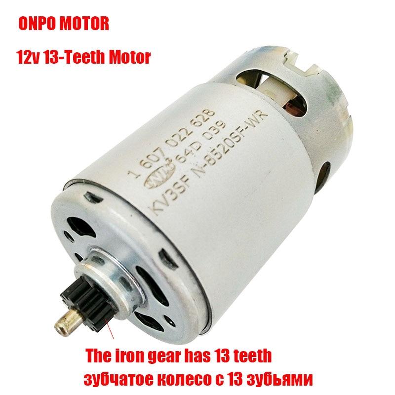 ONPO 12V 13 teeth KV3SFN-8520SF DC GEAR motor for BOSCH GSR120-LI(3601JF7080) electric drill Screwdriver maintenance spare parts
