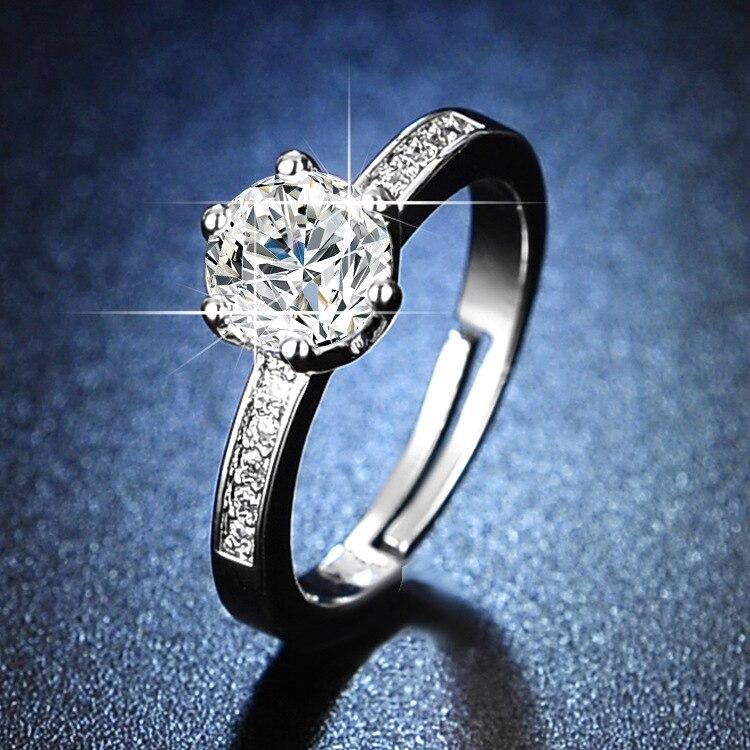 Engagement Rings for Women 925 Sterling Silver Womens Rings Silver Rings Resizable Rings Wedding Ring