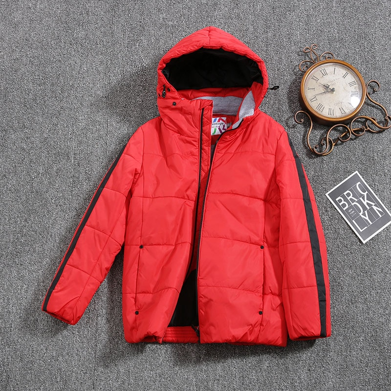 Jacket for Boys 2021 Europe Russia Spring Autumn Thick Parker Coat  Red Coats with a Hood Height 110-134CM 4A-8A G306
