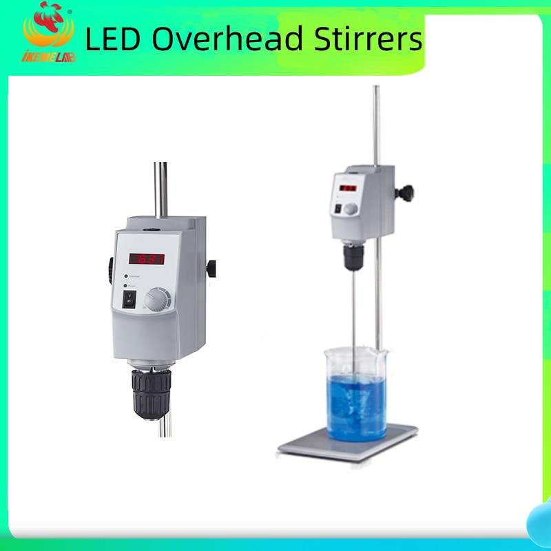 LED Overhead Stirrers Chemistry Laboratory Equipment Large Capacity 20L Stirrers Digital Electric Mixer