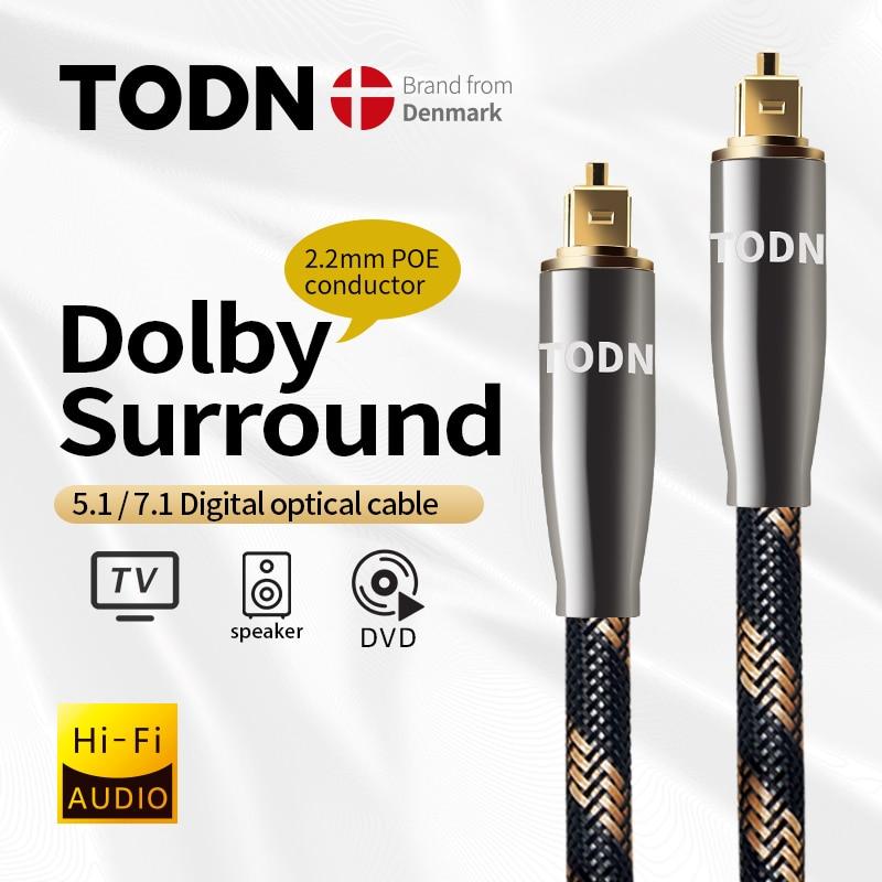 TODN 5,1 Digital de Audio óptico Toslink Cable de fibra óptica, Cable...