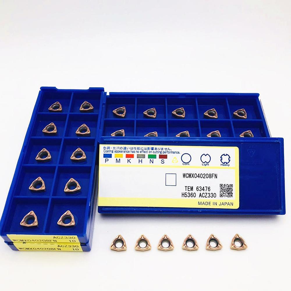Broca em Forma de u Inserção de Carboneto de Alta Qualidade para Broca em Forma de u Pces Qualidade para Wcmx Torno Cnc Peças Ferramenta 50 Wcmx040208 fn Acz330