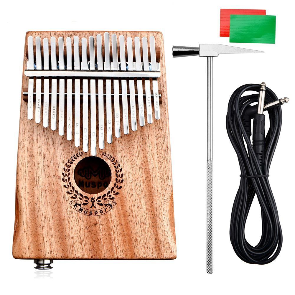 17 teclas EQ Tune C Kalimba africano Mbira Piano de madera de caoba dedo percusión instrumento Musical con martillo de afinación