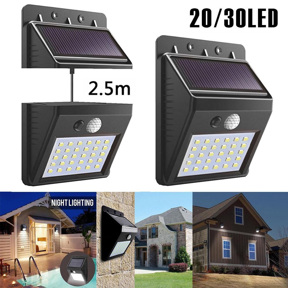 Solar Powered Outdoor LED Wall lamp Motion Sensor Night Sensor Separable Deck light For Garden Lawn Light