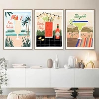 abstract cocktail coconut milk wall art canvas painting nordic posters and prints wall pictures for living bedroom decoration