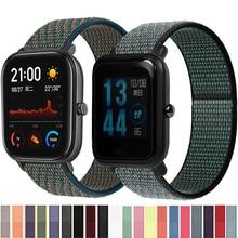 Nylon Loop Straps For Xiaomi Huami Amazfit GTS/GTS 2 Mini/GTR 42MM Smart Watch Band Woven Wristband For Amazfit Bip S/Bip U Lite