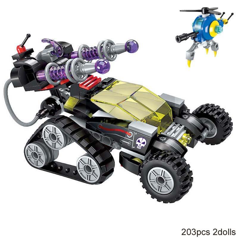 Enlighten bloque de construcción de alta tecnología Era Vehículo de francotirador magnético 2 figuras 203 Uds juguete de bloques técnicos educativos para regalo de niño