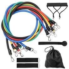 Ensemble de bandes de résistance, 11 pièces, extracteur de force musculaire multifonctionnel, ceinture de corde dentraînement de Yoga