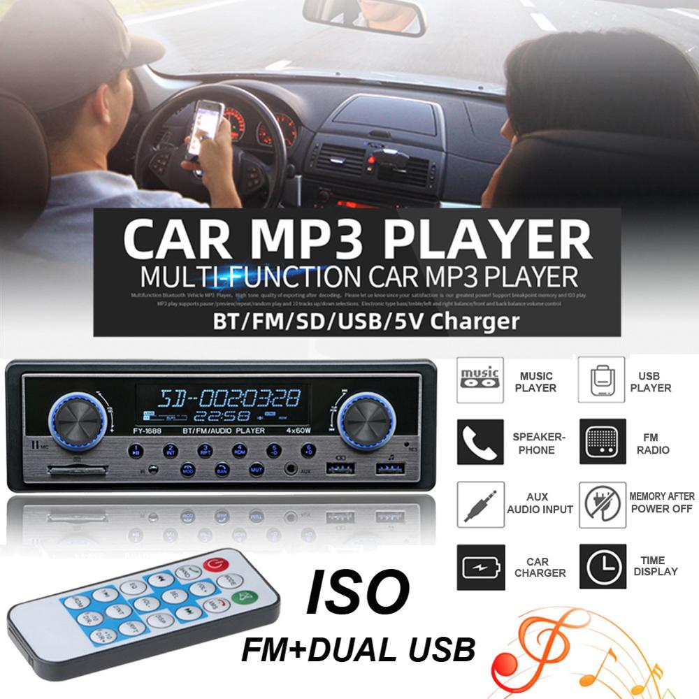 Car Radio Aux Bluetooth FM Stereo Audio MP3 USB Radios Para Auto Electronics 1 din Car Multimedia Player,With Remote Control