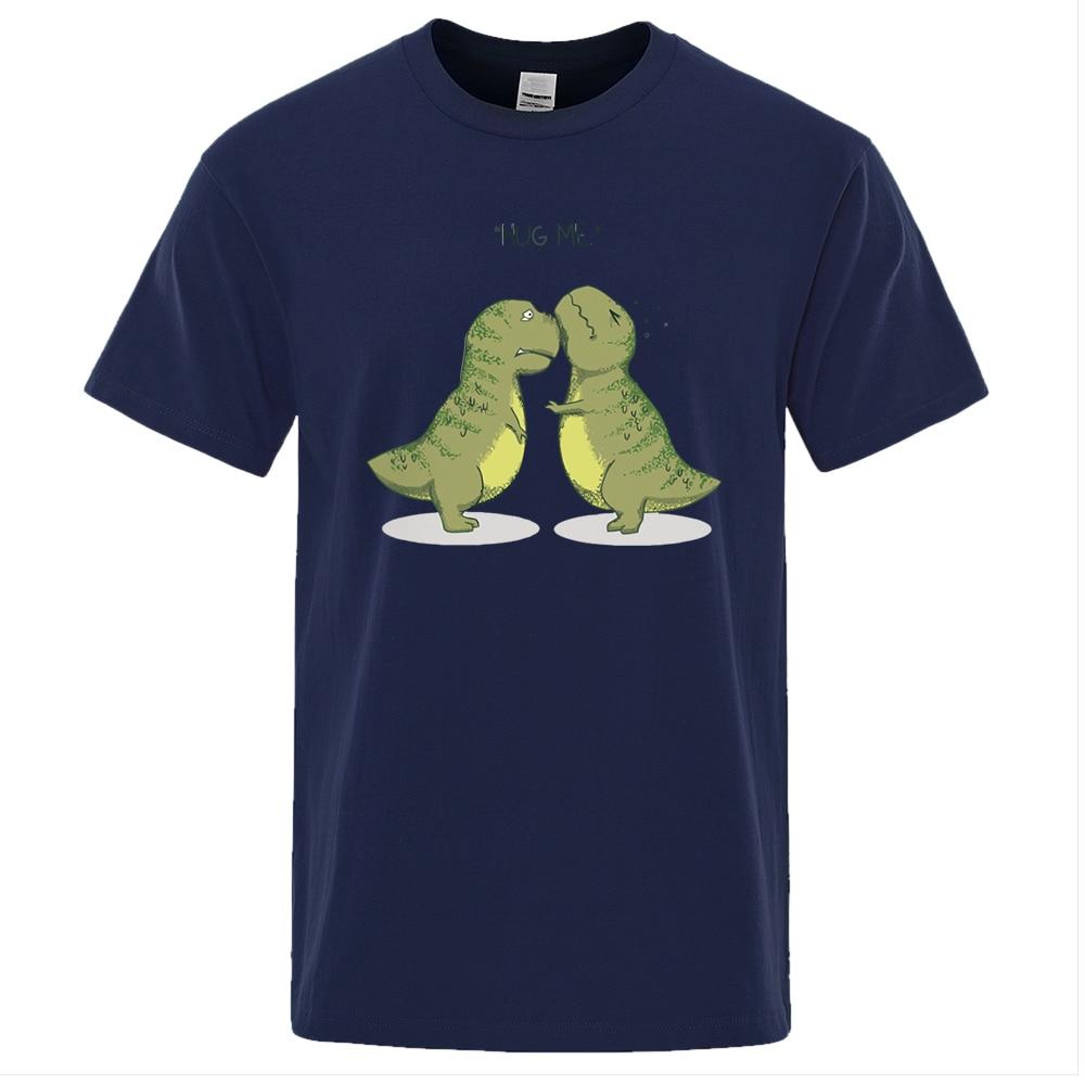 Camiseta divertida con estampado de dinosaurios para hombre de ropa de marca...