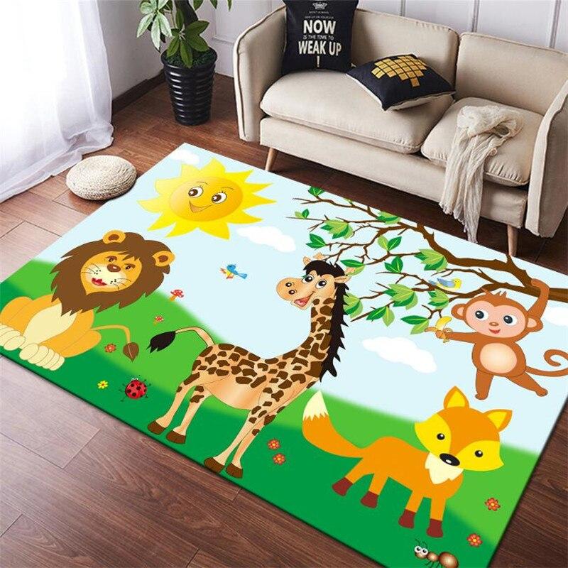 christmas baubles printed skid resistant rug Funny Cartoons Animal 3D Printed Carpet Square Anti-Skid Area Floor Mat Rug Non-slip Mat Dining Room Living Soft Carpet 03