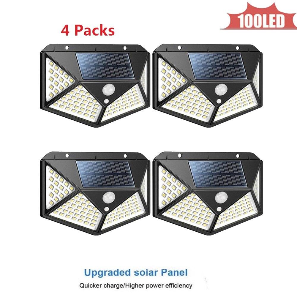 Lámpara LED Solar de pared con Sensor de movimiento, resistente al agua,...