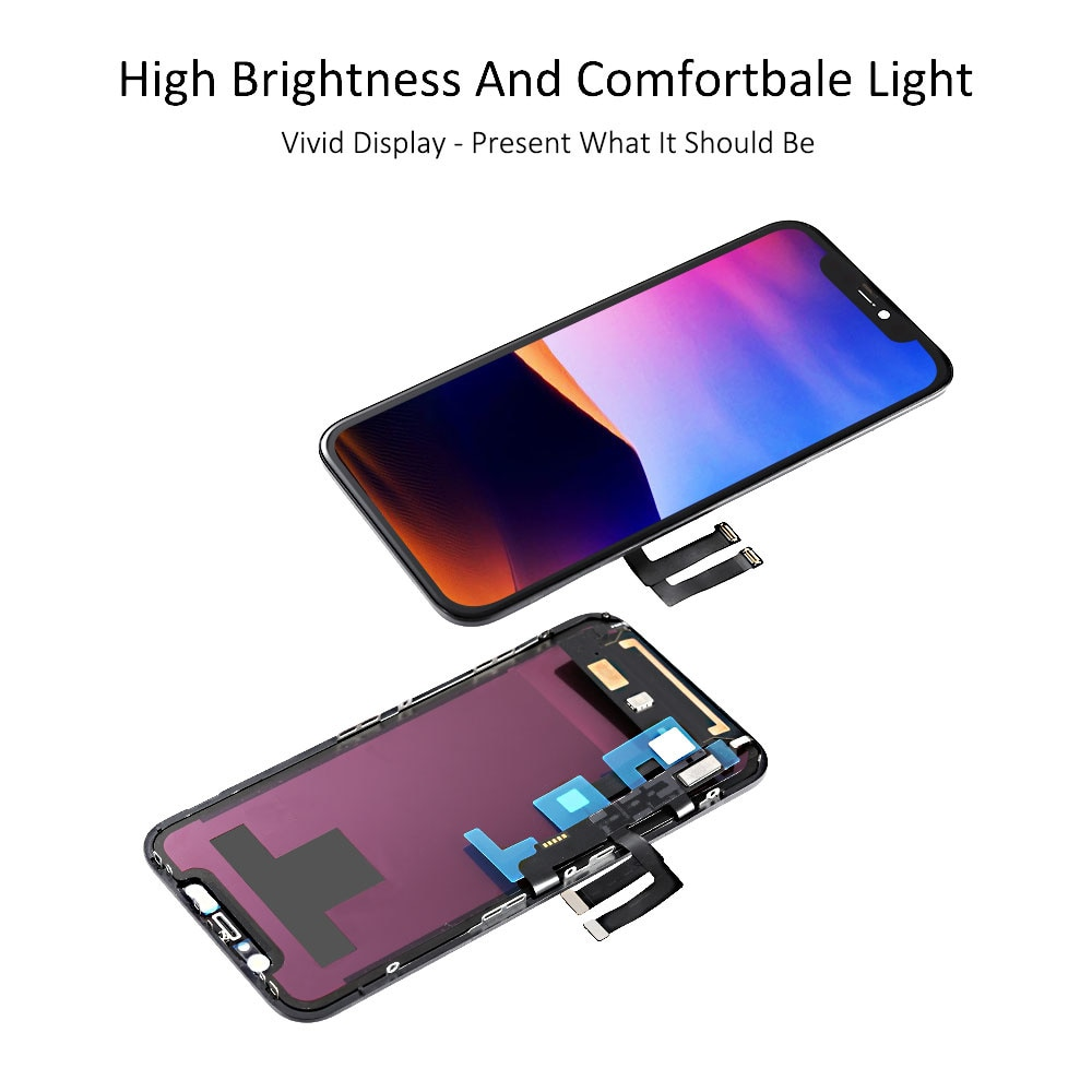 Grade A+ For iPhone X XS XR XS Max 11 Pro XDR OLED OEM Liquid Retina IPS LCD Display Touch Screen Digitizer Assembly Replacement enlarge