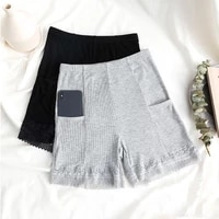 seamless lace with pocket anti light safety short pants women summer stretch shorts boxer under skirt woman brief slim lingerie
