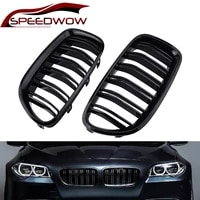 speedwow auto kidney racing grills grille gloss black parallel bar front grille for bwm 5 series f10 f18 2010 2017 1 pair