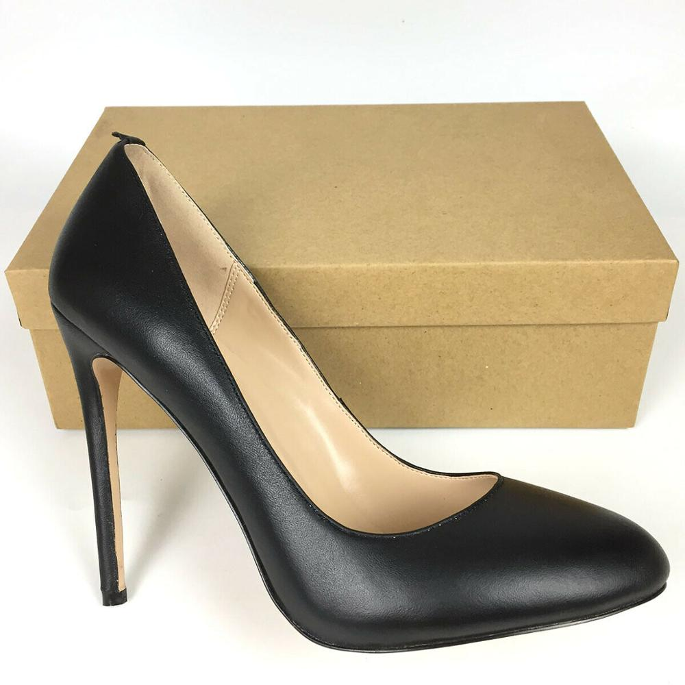 Zapatos de piel auténtica, tacones altos de punta redonda para mujer, zapatos de tacón finos para el trabajo de primavera y otoño, zapatos de tacón negros sin cordones para mujer, rojo vino