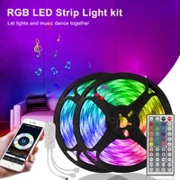 20m 16ft tuya wifi led strip 12v work with alexa google assistant bluetooth control rgb 5050 tape ribbon neon light for bedroom