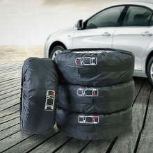 4 pièces de rechange pneu housse Polyester Automobile pneus sac de rangement couvre Auto voiture pneu accessoires véhicule roue jante protecteur