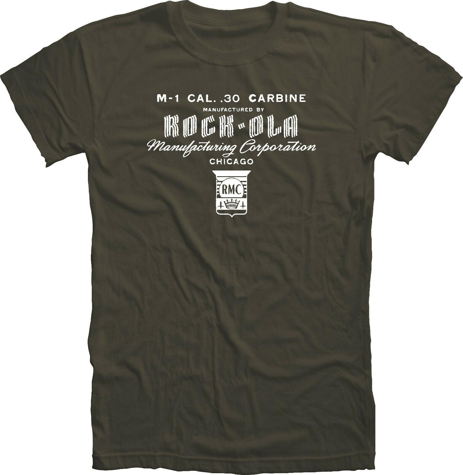 Wwii M1 Carbine Rock-Ola camiseta receptora algodón Unisex camisetas
