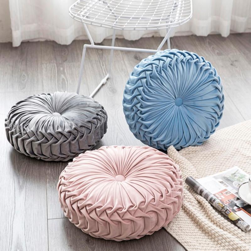 35x35x11 cm estilo europeo cojín de asiento para mujeres embarazadas cojín de asiento redondo/cojín trasero o como sofá almohada cama almohada terciopelo tela