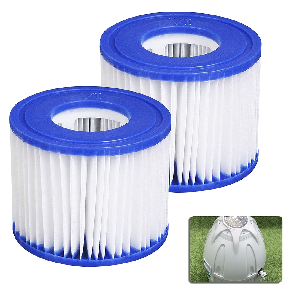 Swimming Pool Filter Cartridge SIZE VI Swimming Pool 58323 Lay-Z-spa PUMP TYPE VI  Durable Pool Filter Swimming Pool Accessories swimming pool filter water pump filter pump lay in clean spa hot tub s1 washable bio foam 2 4 x uk vi lazy z type filter