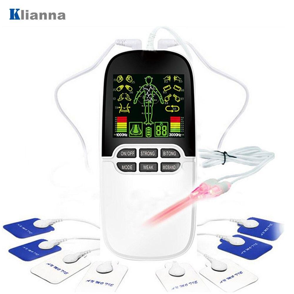 2in1 máquina de massagem corporal dupla saída digital pulso eletrônico massageador estimulador muscular nervo ems unidade dez terapia cuidados com o nariz