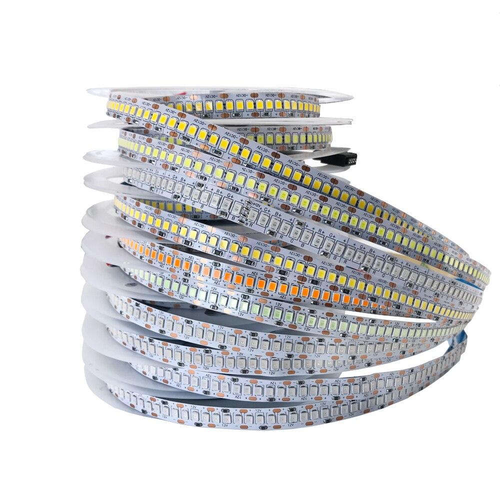 5v 12v 24v conduziu a luz de tira smd 2835 60/120/240/480 diodo emissor de luz/m 5m branco quente tira conduzida da tevê 5v 12v 24v luz da lâmpada da fita ledstrip