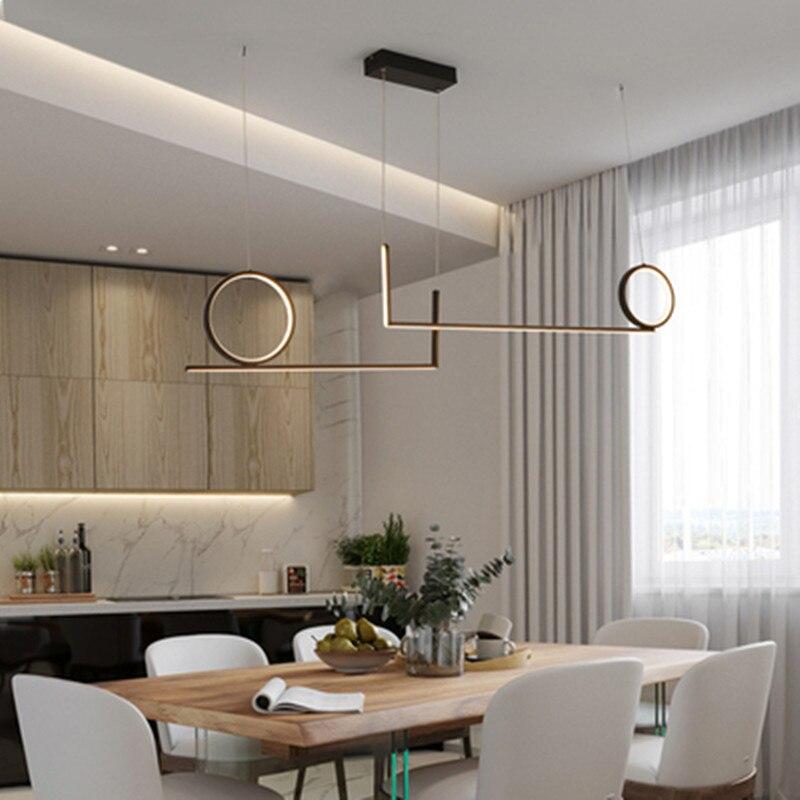 مصباح معلق لشريط المطبخ الحديث ، مصباح معلق من الألومنيوم Avize ، 110 فولت ، 220 فولت ، لغرفة الطعام والمكتب