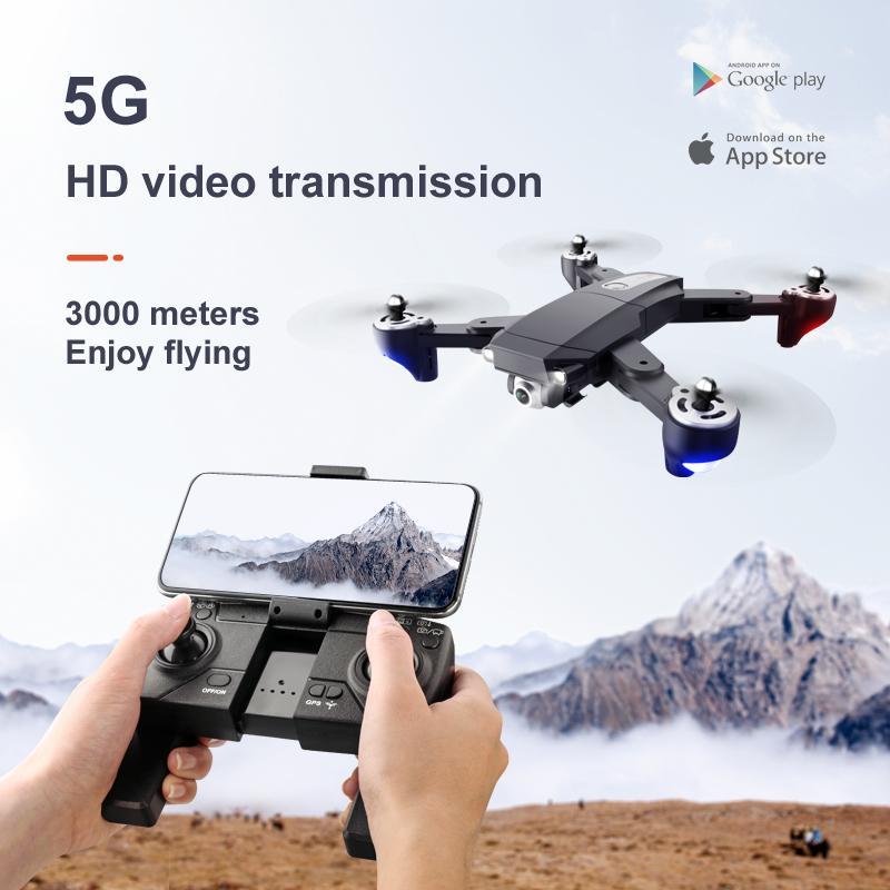 طائرة هليكوبتر بصرية طويلة التحمل S604 برو جي بي إس 3000 متر بجهاز تحكم عن بعد قابلة للطي كاميرا مزدوجة 4K HD بأربعة محاور