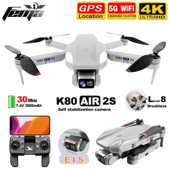 FEMA K80 AIR2S Drone with Camera hd 4K gps Professional Brushless 5G WiFi FPV 1Km Long Distance 28mins RC Quadcopter Dron